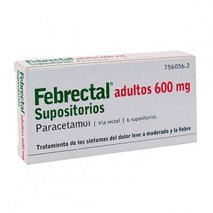 FEBRECTAL ADULTOS 600 MG 6 SUPOSITORIOS