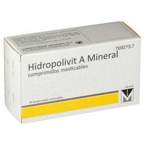 HIDROPOLIVIT A MINERAL 30 COMPRIMIDOS MASTICABLE