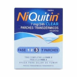 NIQUITIN CLEAR 7 MG/24 H 7 PARCHES TRANSDERMICOS