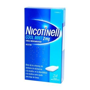 NICOTINELL COOL MINT 2 MG 24 CHICLES MEDICAMENTO