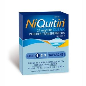 NIQUITIN CLEAR 21 MG/24 H 14 PARCHES TRANSDERMIC