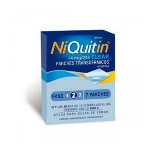 NIQUITIN CLEAR 14 MG/24 H 7 PARCHES TRANSDERMICO