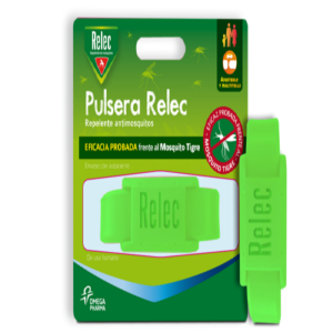 RELEC PULSERA ANTIMOSQUITOS REPELENTE COLOR VERD