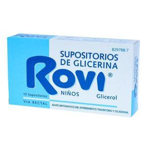 SUPOSITORIOS GLICERINA ROVI INFANTIL 1.44 G 15 S